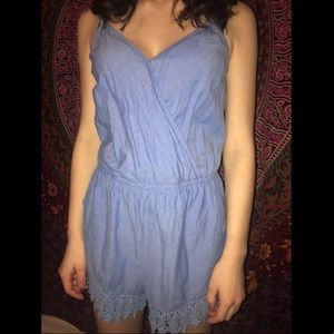 Other - Blue Lace Detail Romper